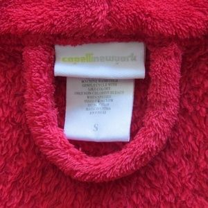 Capelli of New York Intimates & Sleepwear - CAPELLI NY Robe S Red THICK PLUSH Thigh Length